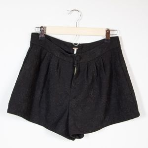 Free People Shorts - Free People Black Lace Textured Shorts